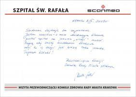 Wizyta Przewodniczącego Komisji Zdrowia Rady Miasta Krakowa